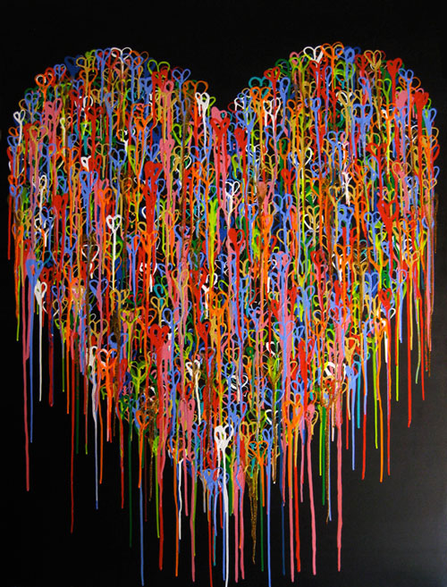 A Heart In Love - Painting by Waleska Nomura