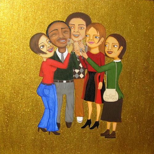 Cheers! - Painting by Waleska Nomura