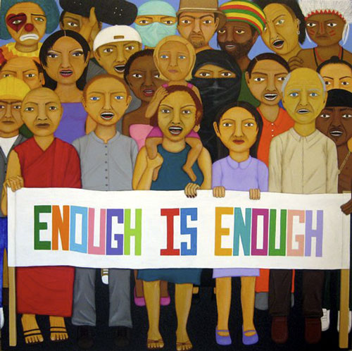 Enough Is Enough - Painting by Waleska Nomura