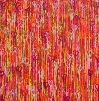Heart Beats 2 - Painting by Waleska Nomura.