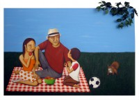 Picnic In The Park - Painting by Waleska Nomura