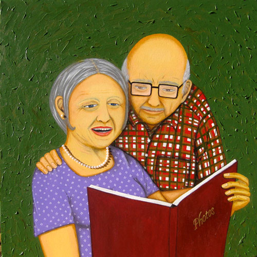 The Family Album - Painting by Waleska Nomura
