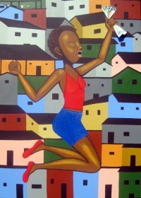 The Lottery Winner of The Favela- Painting by Waleska Nomura