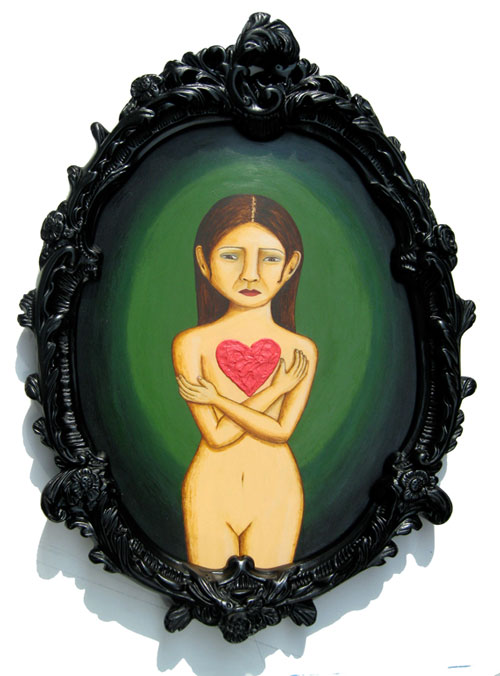 Triptych - Broken Heart - Painting by Waleska Nomura