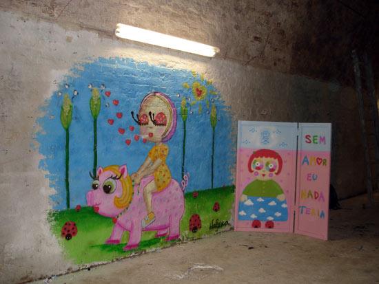 Wall painted in Berlin, Germany.