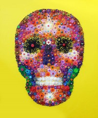 Yellow Skull - Painting by Waleska Nomura.