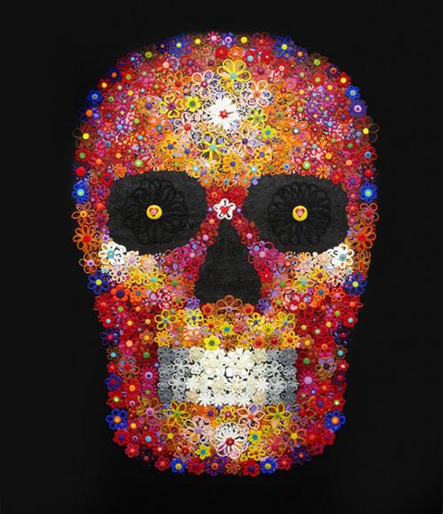 Black Skull - Painting by Waleska Nomura