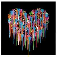 Heart In Love (Black) Screen Print
