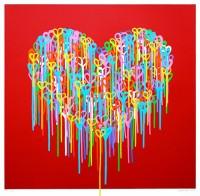 Heart In Love (Red) Screen Print by Waleska Nomura.