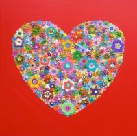 Red Heart - Painting by Waleska Nomura