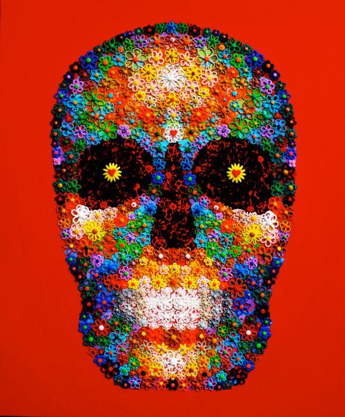 Red Skull - Painting by Waleska Nomura.
