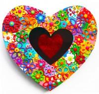 Small Heart 1 - Painting by Waleska Nomura.