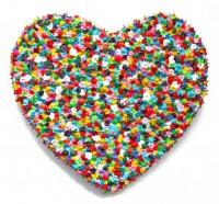 Small Heart 2 - Painting by Waleska Nomura.