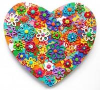Small Heart 3 - Painting by Waleska Nomura.