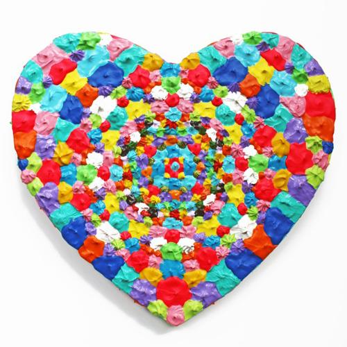 Small Heart 4 - Painting by Waleska Nomura.
