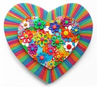 Small Heart 6 - Painting by Waleska Nomura.