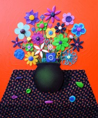 Still Life Orange - Painting by Waleska Nomura.